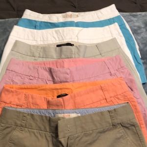 J.Crew shorts 7 pairs assorted colors all size 10